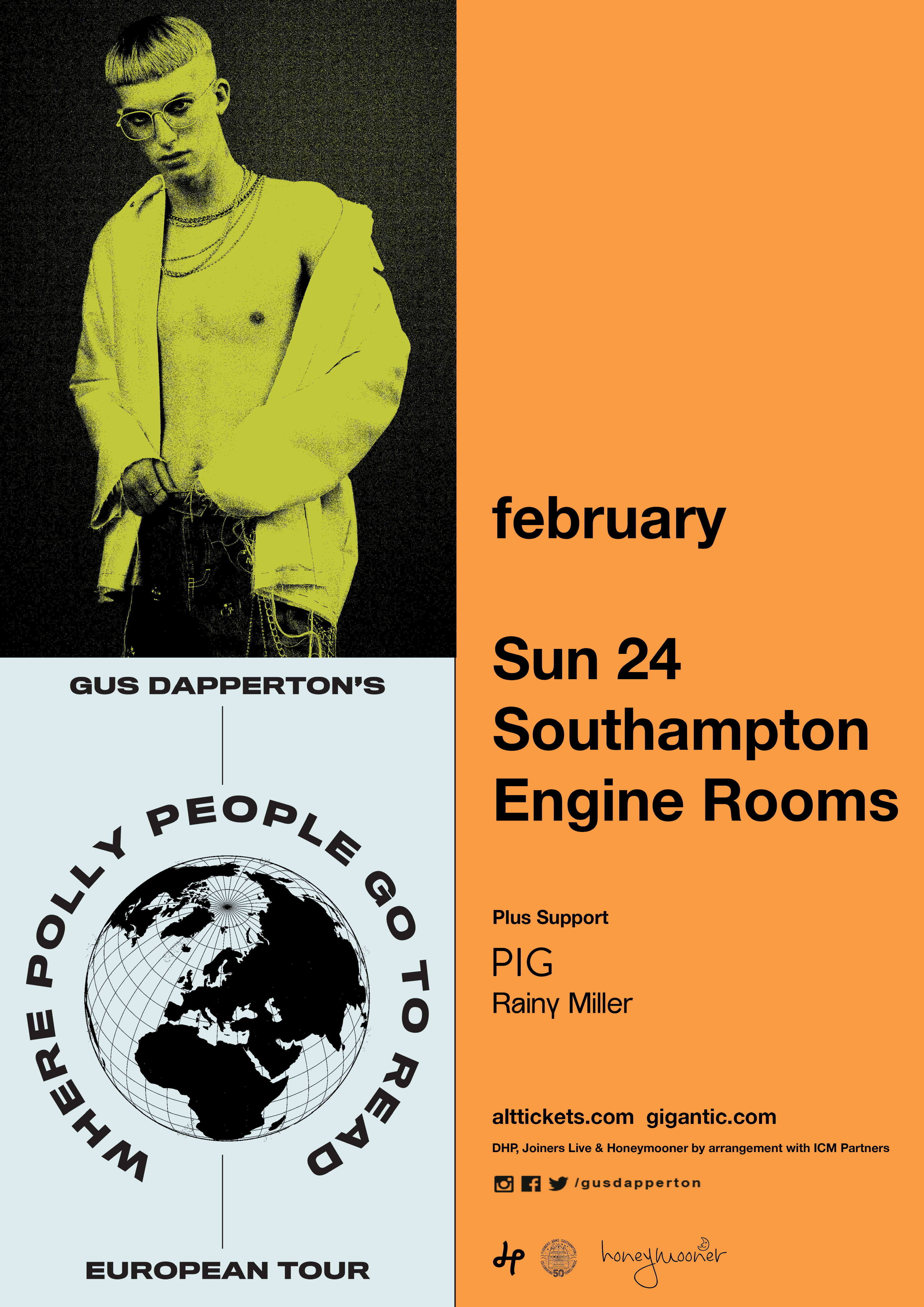 GUS DAPPERTON AT THE ENGINE ROOMS
