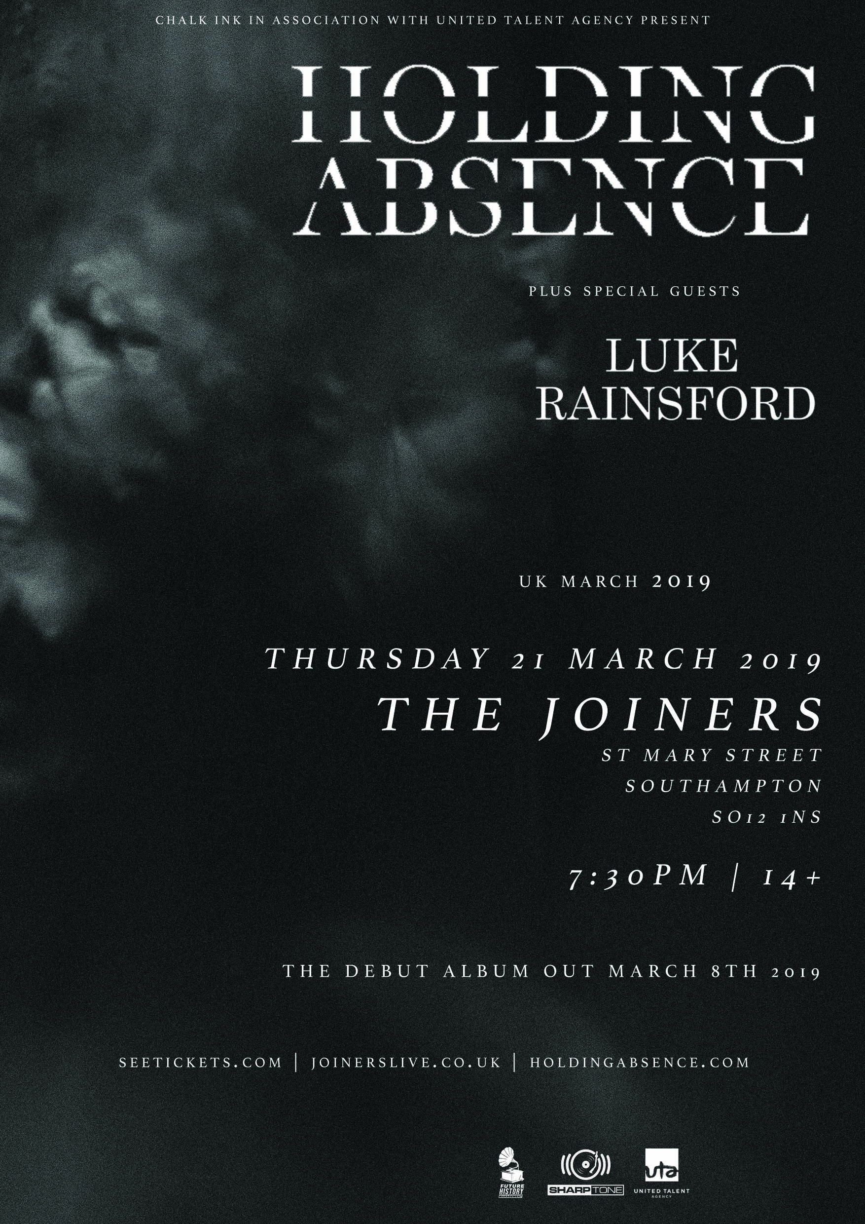 HOLDING ABSENCE + LUKE RAINSFORD