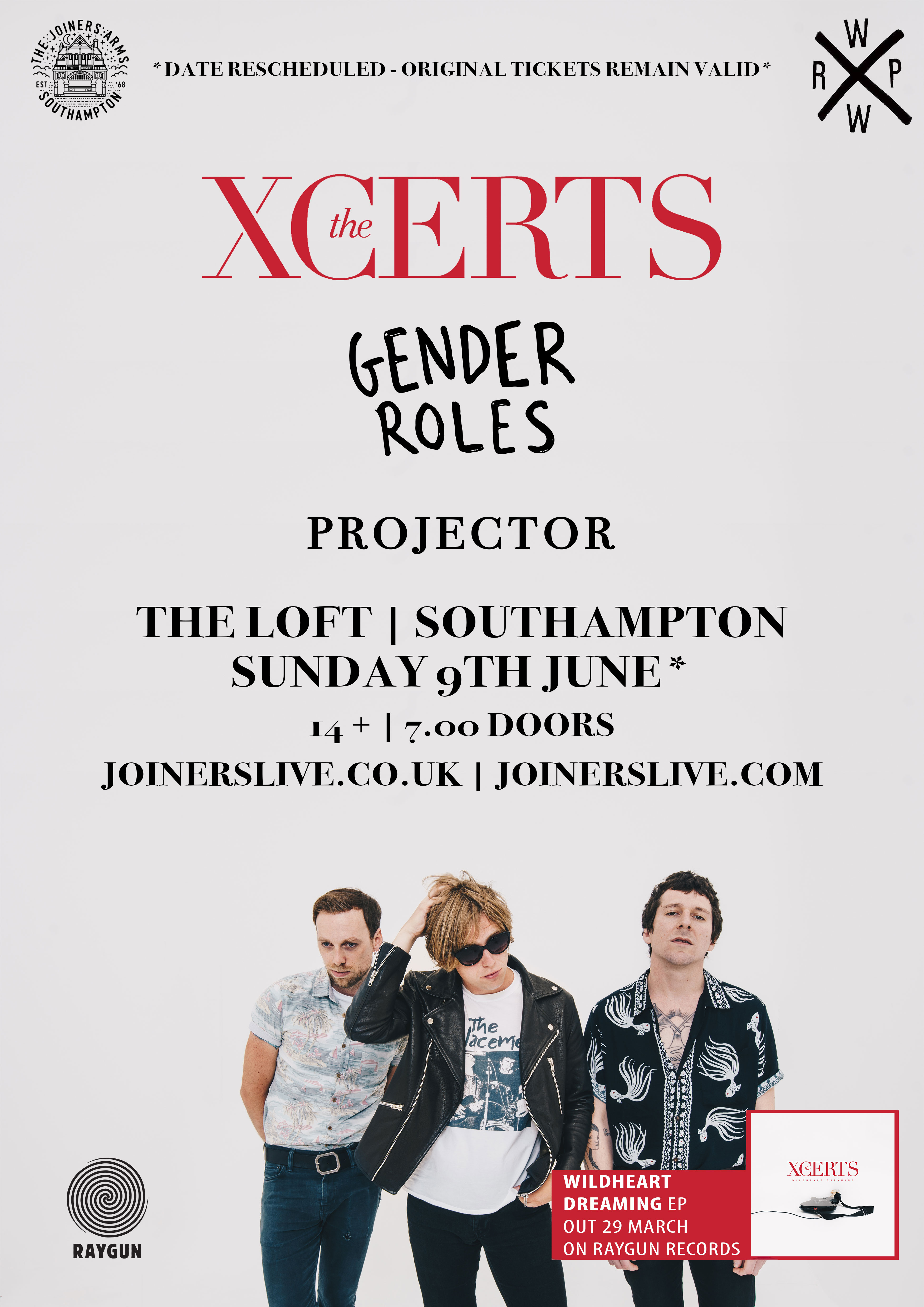 THE XCERTS AT THE LOFT - POSTPONED TO 9th JUNE 2019
