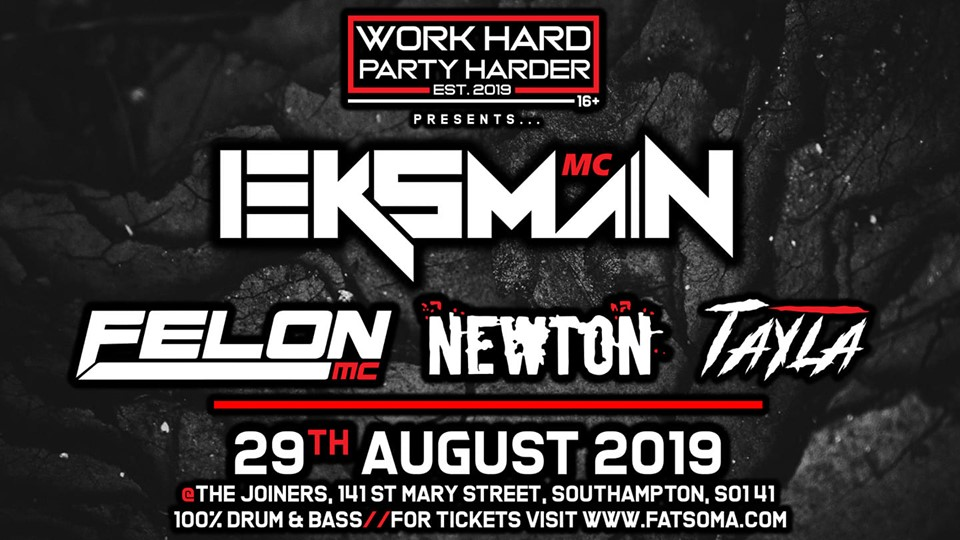 Eksman & supporting acts - work hard party harder!